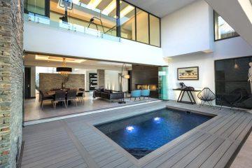 Composite Decking around swimming pool - Royal Decking