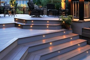composite decking and lighting - Royal Decking